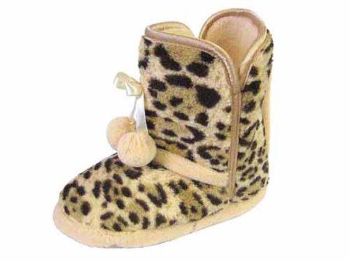 Coolers-pantoufle pour fille Marron - Leopard