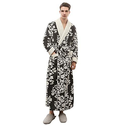 Preisvergleich Produktbild Igemy Winter Verlängerter Coralline Plüsch Schal Bademantel Langärmeliger Robe Mantel