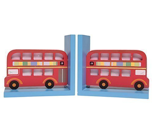 big-red-bus-wooden-bookends