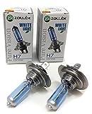 [2 Stück] ZOLLEX H7 12V 55W 60124 PV Pure Vision Halogen-Scheinwerferlampe Blau P14,5s 30% +20m PV, Duo Box (2 Lampen)