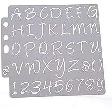 Hothap Plantillas de Letras y números para Pintar, Aprender decoración de Pared, DIY,