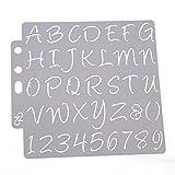 Hothap Plantillas de Letras y números para Pintar, Aprender decoración de Pared, DIY, 14 x 13 cm