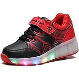 Tamaño 12–8,5elegante Unisex LED luz signle rueda Roller Shoes Hip Hop Casual Deporte Zapatos Zapatillas Deportivas (Little Kids/grandes niños/adulto)