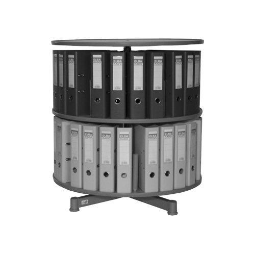 reef-re081b2-ordnersule-81-cm-durchmesser-2-etagen-einzeln-drehbar-grau