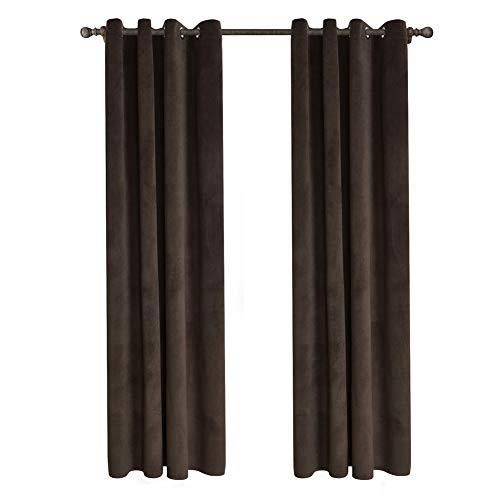 Mymgg di lusso di fascia alta tende adatte per soggiorno camera da letto 2 pezzi barrier olandese tessuto in velluto semi-ombreggiatura (40% -70%) punzonatura 4 colori,brown,140x260cm