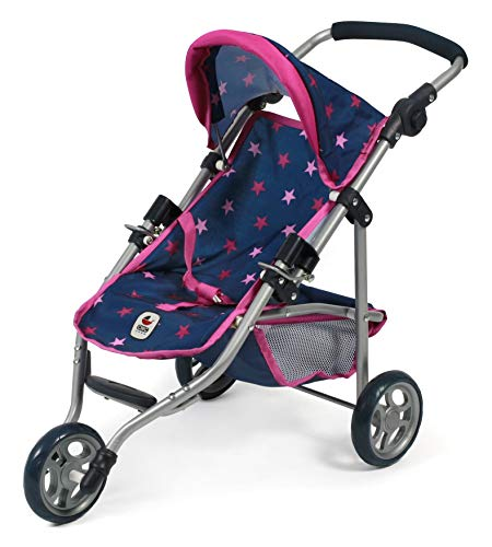 Bayer Chic 2000 612 72 Jogging Buggy Lola, Puppenwagen, Stars Navy-pink
