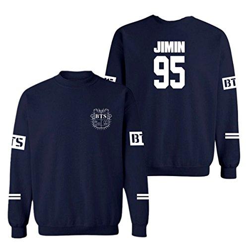 SERAPHY cappuccio invernale BTS Felpe con Cappuccio a collo rotondo Bangtan Felpa Suga Jin Jimin Jung Kook J-Hope Rap-Mostro V reale-95-JIMIN