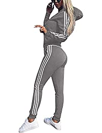 08959543ca30 Tuta Donna Sportiva Abbigliamento Felpa Tops E Pantaloni Jogging Manica  Lunga Pullover Tuta Ginnastica per l