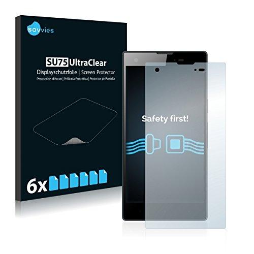 6x Savvies SU75 UltraClear Bildschirmschutz Schutzfolie für Kazam Tornado 350 (ultraklar, mühelosanzubringen)