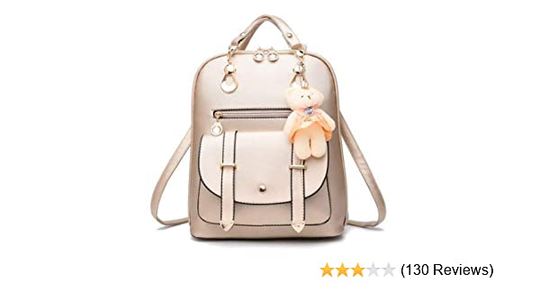 22f24fca7 Alice Girl's Leather Off White Backpacks Bag for Travel/School ...