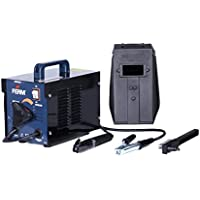 FERM Arc Welder - Welding Machine - 40-100 A - Thermal Cut-Out - With Scaling Hammer, Steel Wire Brush and Welding Mask