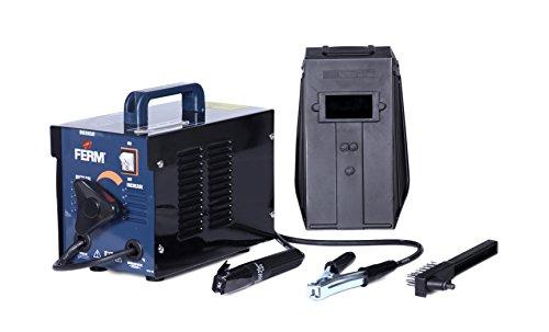 FERM WEM1042 Elektro-Schweißgerät - 40-100 Ampere - 1,6-2,5 mm - Thermischen Sicherung  - Inkl. Schweißschild, Drahtbürste und Schlackenhammer