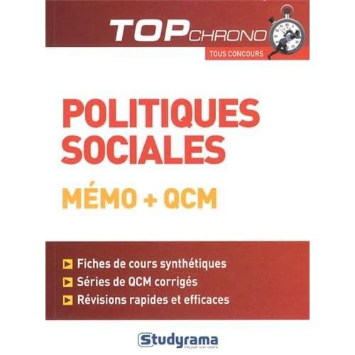 Politiques sociales : Mémo et QCM