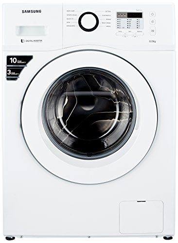 Samsung 6 kg Fully-Automatic Front Loading Washing Machine (WF600B0BTWQ, White)