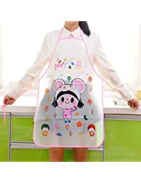 Hermoso delantal Casa dulce caricatura impermeable princesa delantal coreana Moderna cocina sin mangas resistente al aceite
