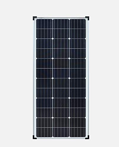 Pannello fotovoltaico monocristallino, da 100 W, 12 V, ideale come pannello solare per camper, casa da giardino, barca