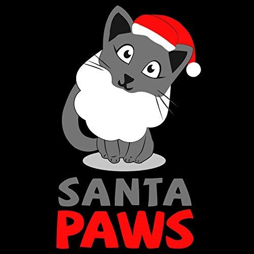 Fashionalarm Herren T-Shirt - Santa Paws   Fun Shirt als Geschenk Idee Weihnachten Heiligabend Nikolaus Schwarz