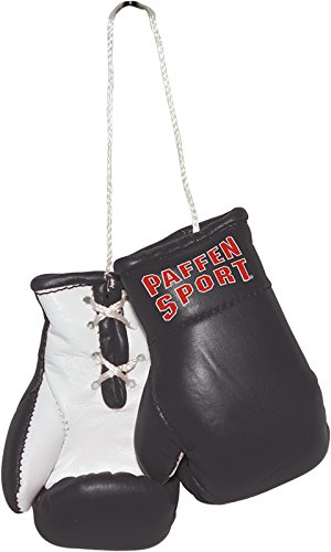 Paffen Sport Colour Mini Boxhandschuhe - Anhänger fürs Auto - schwarz/weiß