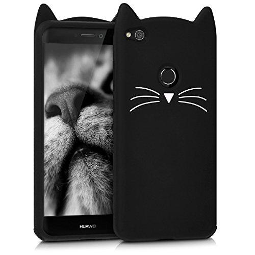 Kwmobile custodia in silicone design gatto per huawei p8 lite (2017) - design stiloso e protezione ottimale