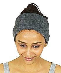 NimNik Fit Sports Running Headbands for Crossfit Yoga Pilates Gym, Sweat Moisture Wicking Non-Slip Cotton; Headbands for Women Men Unisex Bandana Balaclava Hair Mask from NimNik Fit