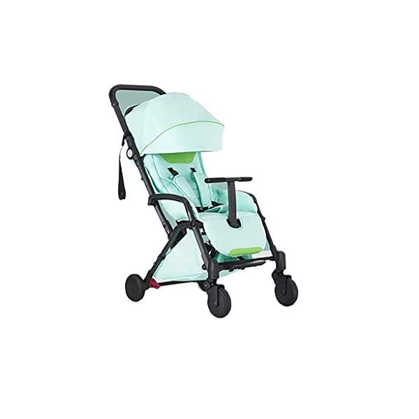 Tao-Miy Lightweight Stroller Buggy, Travel Buggy with Reclinable Backseat Easy Fold Compact Airplane Stroller, (0-36 Months) Tao-Miy ★〖Comfort〗 Multi-range adjustment seat, convenient for your baby's various needs, can sit and recline, height adjustable seat belt, suitable for different heights of the baby. ★〖Safety〗 High-strength load-bearing suspension frame structure, effectively disperse and mitigate vibration; built-in spring shock absorption on the front wheel, freely adjust according to road conditions, reduce vibration. ★〖More convenient〗 The body is made of new lightweight aerospace aluminum alloy, which can be taken on board, high-speed rail and bus. Easily put into the trunk of your car. As soon as you it, you will receive it. 1