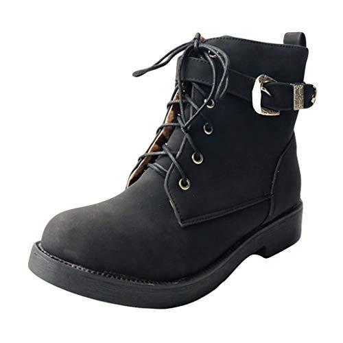 FATESHOP Show_Damenschuhe Damen Stiefel Overknees mit Blockabsatz Profilsohle