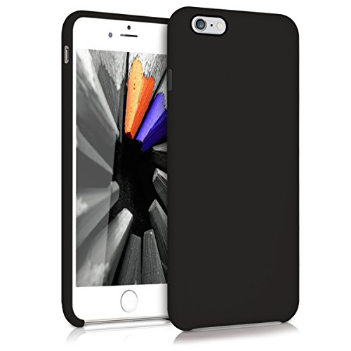 kwmobile Hülle für Apple iPhone 6 Plus / 6S Plus - TPU Silikon Backcover Case Handy Schutzhülle - Cover Schwarz matt