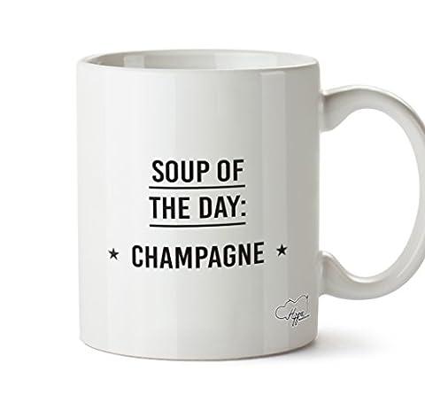 Hippowarehouse soupe du jour Champagne 283,5gram Mug Cup, Céramique, blanc,