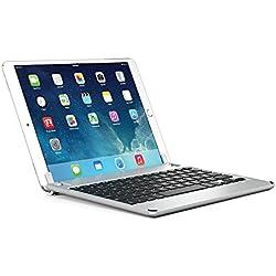 BRYDGE 10.5, Hochwertige Bluetooth Tastatur aus Aluminium, Deutsches Layout QWERTZ, für das iPad Pro 10.5, silber