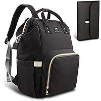 HEYI Diaper Tote Bag - Travel Backpack Organizer, Black