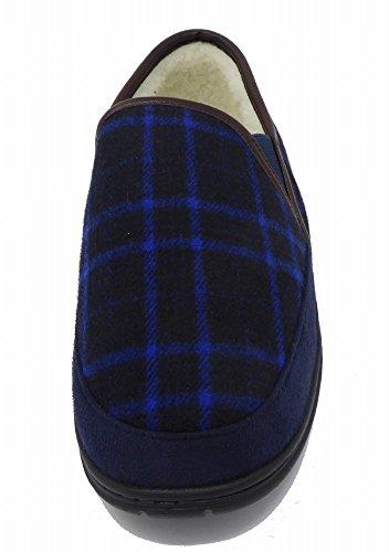 Pantofole Uomo Dunlop Modello Piastrelle Marina Blu HqnUxS