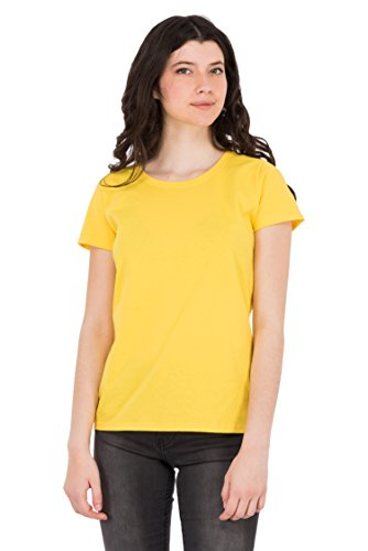 Fruit of the Loom Damen T-Shirt Valueweight Lady Gelb (Yellow K2)