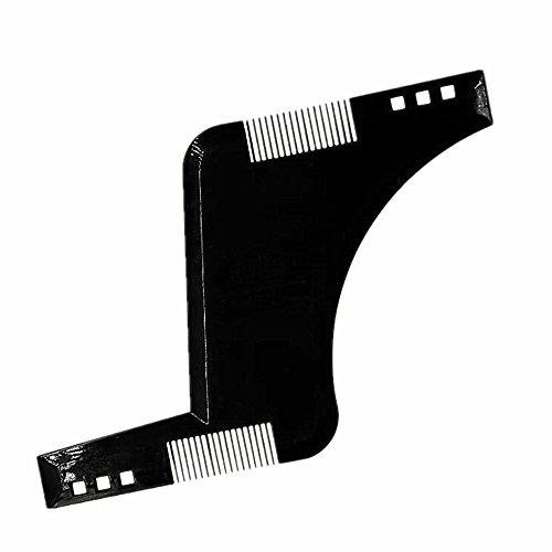 Yocome Plastik Bart Schablone Shaper Guide Kamm Werkzeug Trimmer für Herren Ziegenbart, Bart (schwarz) - Edelstahl Haar Shaper