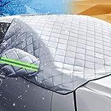 Pudincoco Car-styling Car Covers Copertura parabrezza Calore Parasole Anti Snow Ghost Ice Shield Protezione antipolvere Inverno (argento)