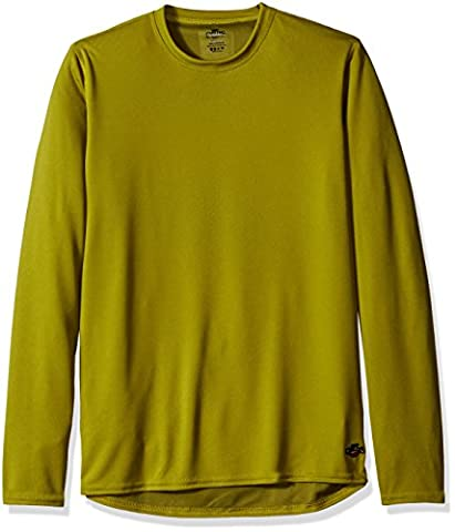 Hot Chillys Men's Geo-Thermal Crew Top, Moss, Large