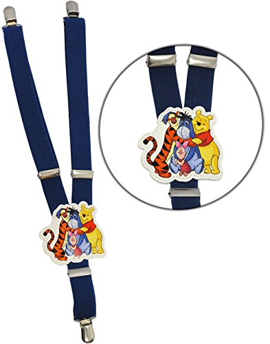 Pooh 3 Stück Rock (alles-meine.de GmbH 1 Stück _ Hosenträger -  Disney - Winnie The Pooh - blau  - 1 bis 6 Jahre - stufenlos verstellbar - 3 Clips - Y - Form - 25 mm - Kinderhosenträger - Gummi &..)