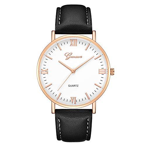 VICKY-HOHO Genf Classic Hot Luxury Frauen Edelstahl Analog Quarz Analog Armbanduhr -