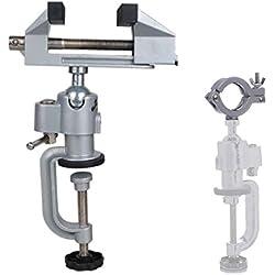Nuzamas 2en 1table Étau Étau en alliage d'aluminium pivotant rotatif à 360degrés Pince pour perceuse électrique Stent Grinder outils support