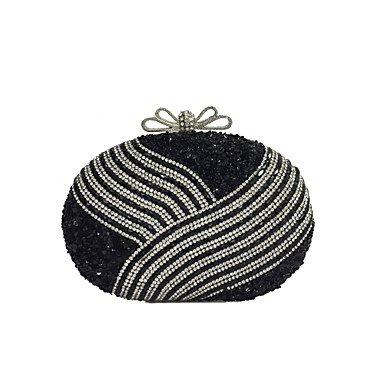 pwne Frauen Pu-Formalen/Event/Party/Hochzeit Abend Tasche Handtasche Handtasche/Kupplung Black