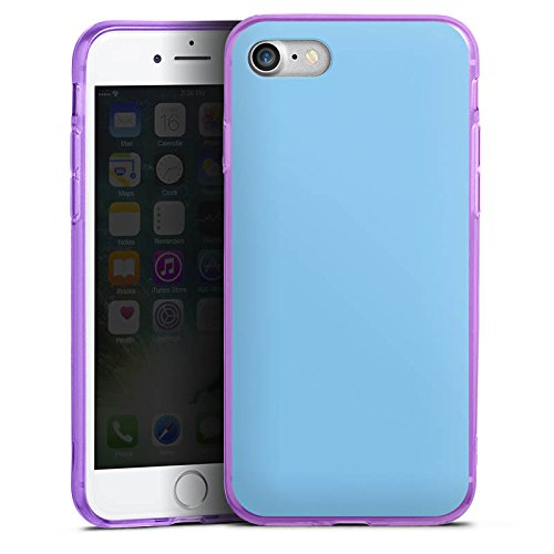 Apple iPhone 8 Silikon Hülle Case Schutzhülle Eisblau Blau Blue Silikon Colour Case lila