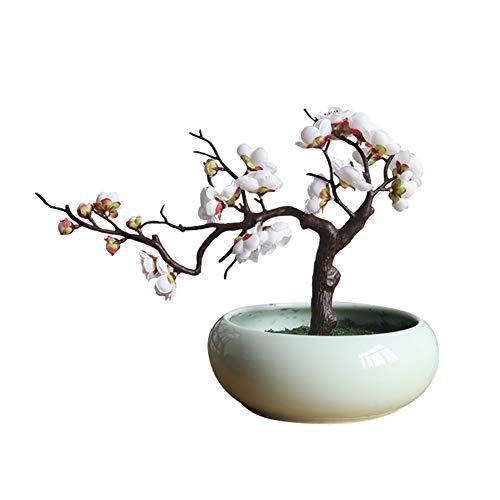 qingsb Künstliche Pflaumenblüte, Foto-Requisiten für Hochzeiten, Zuhause, Büro, Geschäft, Dekoration weiß