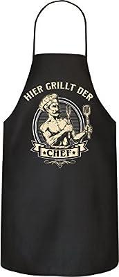 RAHMENLOS Original BBQ Grillschürze: Hier grillt der Chef. Nr.: 2997