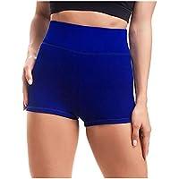 ZHMEI Pantalones Cortos de Fitness   Pantalones Cortos de Yoga Deportivos de Cintura Alta para Mujer, 1 Paquete S - XL