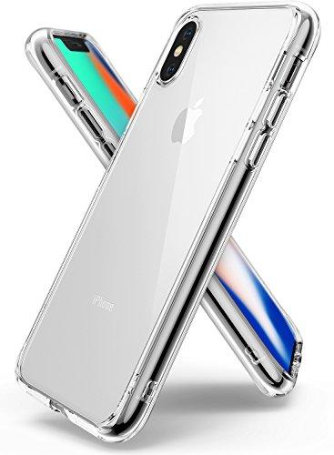Ringke Funda Apple iPhone X [Fusion] Transparente al Dorso del PC y Frente al TPU [Tecnologia para Proteccion a la caida] protectiva con Armadura Mejorada para iPhone 10 - Transparente Clear