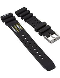 Bracelet de montre ZULUDIVER® en Caoutchouc, Qualité et Résistance, Plongeur Professionnel, Sport et Loisir, 20mm ou 22mm