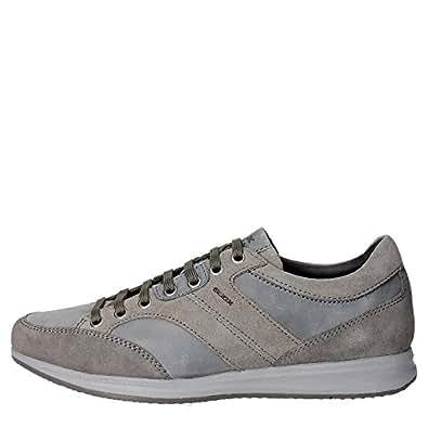 Geox U54H54 Sneakers Homme Suède Gris Gris 40
