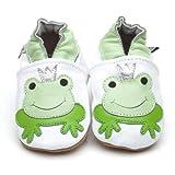 Suaves Zapatos De Cuero Del Bebé Rana Príncipe 12-18 meses
