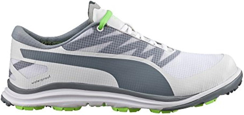 Puma Men's BioDrive Golf Shoe  White/Tradewinds/Green Gecko  13 Medium