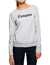 Computer Sweater Girls Grey Certified Freak