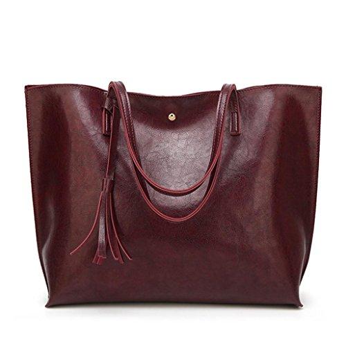 YOUBan Damen Handtasche Frauen Leder Quaste Handtasche Schultertasche Casual Taschen Umhängetasche Ledertasche Mode 2018 Rucksack